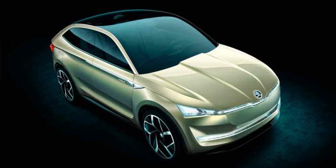 Купе-кроссовер Skoda Vision E Concept: дизайн будущего марки