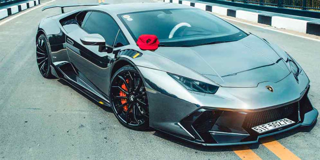 Lamborghini Huracan на новых колесах Forgiato и в виниле
