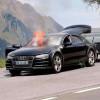 Тестовый прототип новой Audi A7 сгорел дотла в Альпах