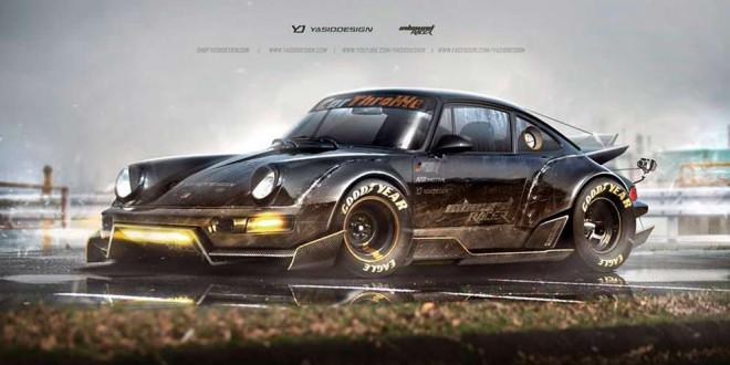 Porsche 911 в стиле Безумного Макса, виртуально