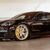 2017 Porsche Panamera Turbo на золотистых дисках HRE P101