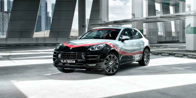Porsche Macan Special получил гоночную раскраску