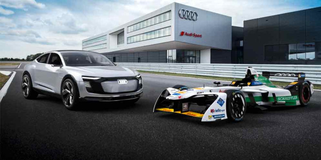 Audi показала новый болид для Formula E — модель E-Tron FE04