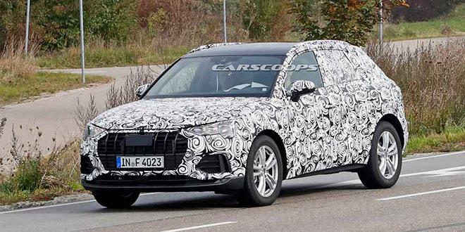 2019 Audi Q3 замечена на дорожных тестах в Европе