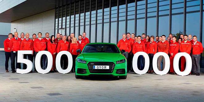 Завод Audi в Венгрии выпустил полумиллионный автомобиль