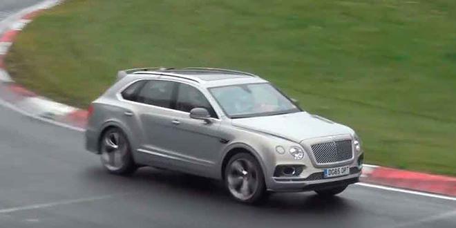 Гибрид Bentley Bentayga замечен на тестах в Нюрбургринге