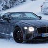 На тестах в снегах замечен новый Bentley Continental GTC