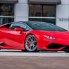 Красный Lamborghini Huracan на дисках Strasse Wheels