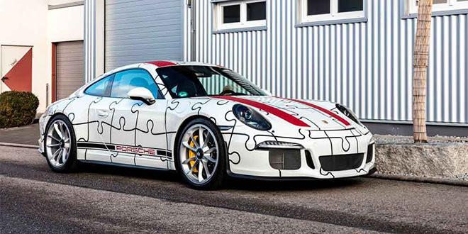 Porsche 911 R в пазл-виниле от Schwagen Folia