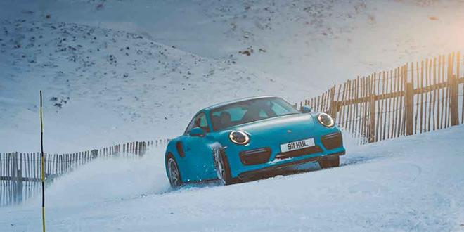 Porsche 911 Turbo S — король горнолыжного курорта