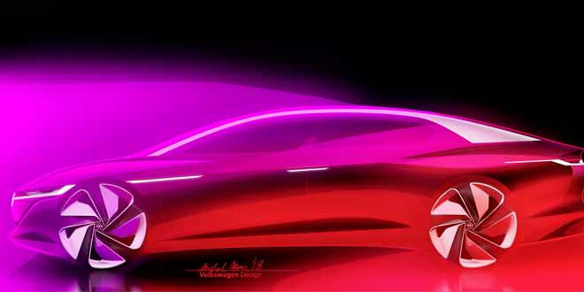 Volkswagen ID Vizzion Concept ответит Tesla Model S