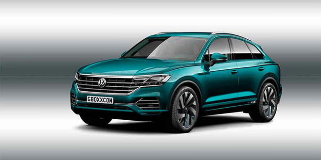 Рендер Volkswagen Touareg Coupe, неофициально