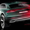 Дизайн задней части Audi Q8 раскрыт на тизере