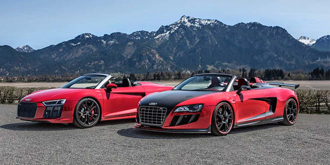 Родстеры Audi R8 двух поколений встретились в Альпах