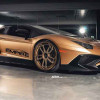 Золотой Lamborghini Aventador SV Roadster на дисках ADV1