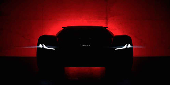 Audi показала тизер электро-суперкара PB18 E-Tron