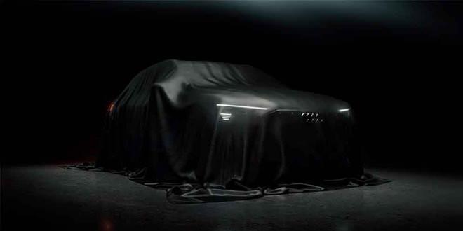 Последний тизер электро-кроссовера Audi E-Tron перед показом