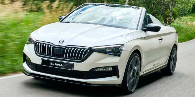 Кабриолет Skoda Slavia Concept показали официально