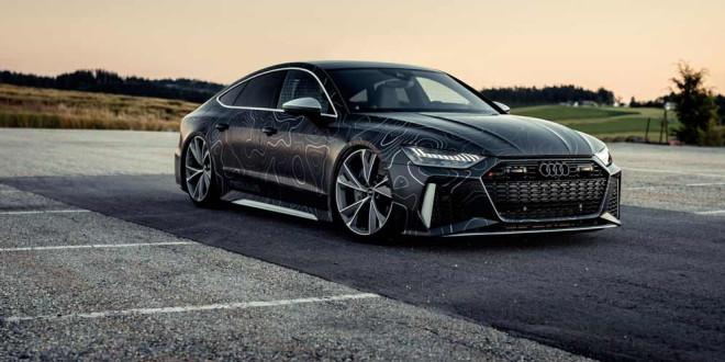 Тюнинг Audi RS7 до 942-сил и эффектный матовый винил