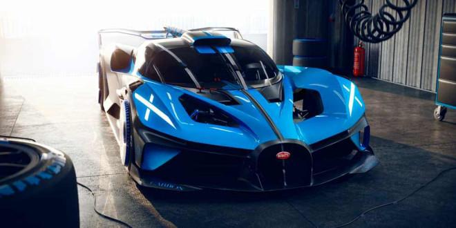 Вышел Bugatti Bolide — трековый гиперкар на 1 824-силы