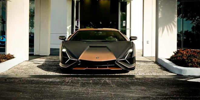 Второй Lamborghini Sian FKP 37 приземлился в США, распаковка