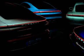 Porsche Taycan показался на тизере в новой модификации