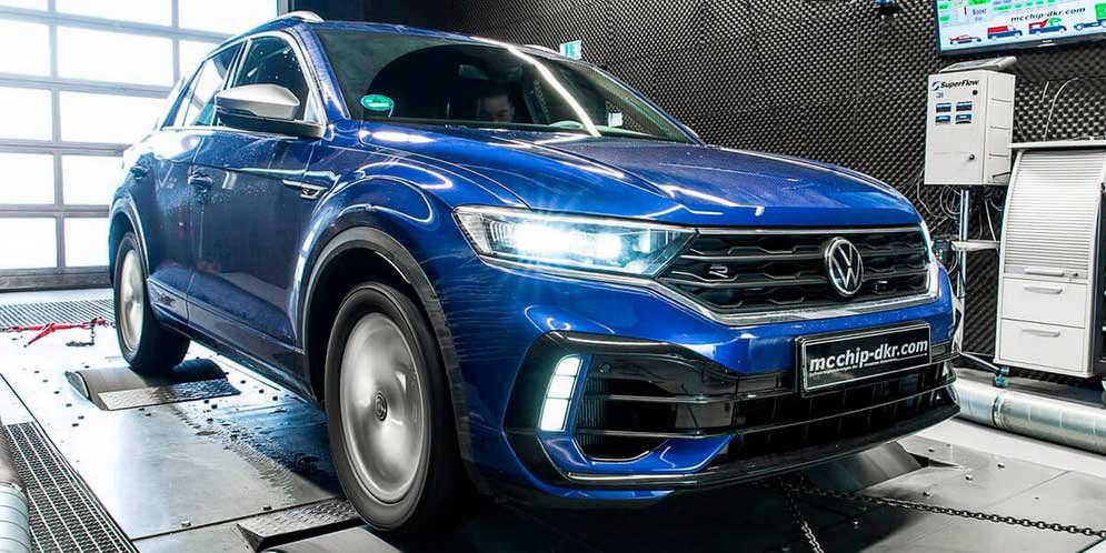 Новый тюнинг VW T-Roc R от McChip: даже мощнее Tiguan R