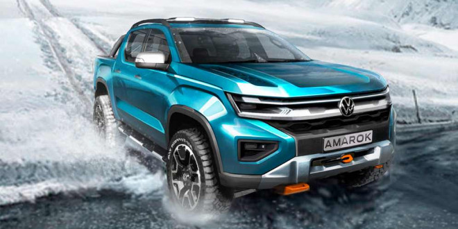 Новый Volkswagen Amarok 2022 раскрыл свой дизайн на тизере