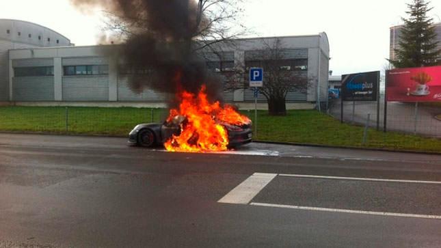 Самовозгорание Порше