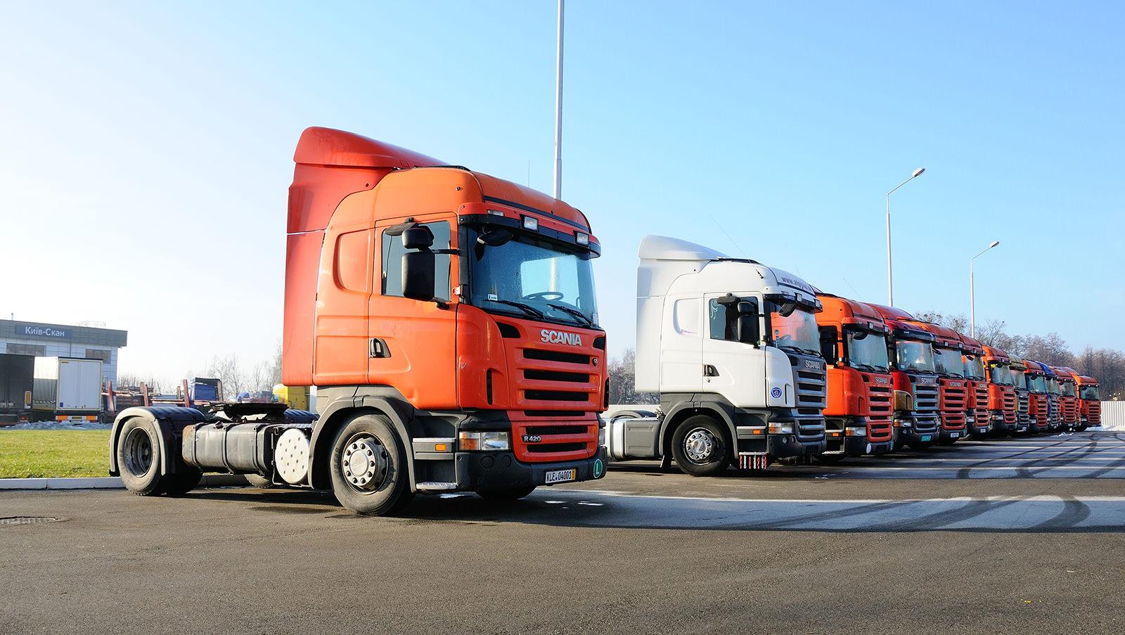 Тягачи Scania с пробегом на складе в Украине (2005-2008 гг. производств)