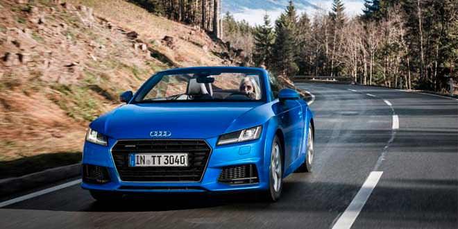 Новая Audi TT Roadster позирует для фото в Альпах
