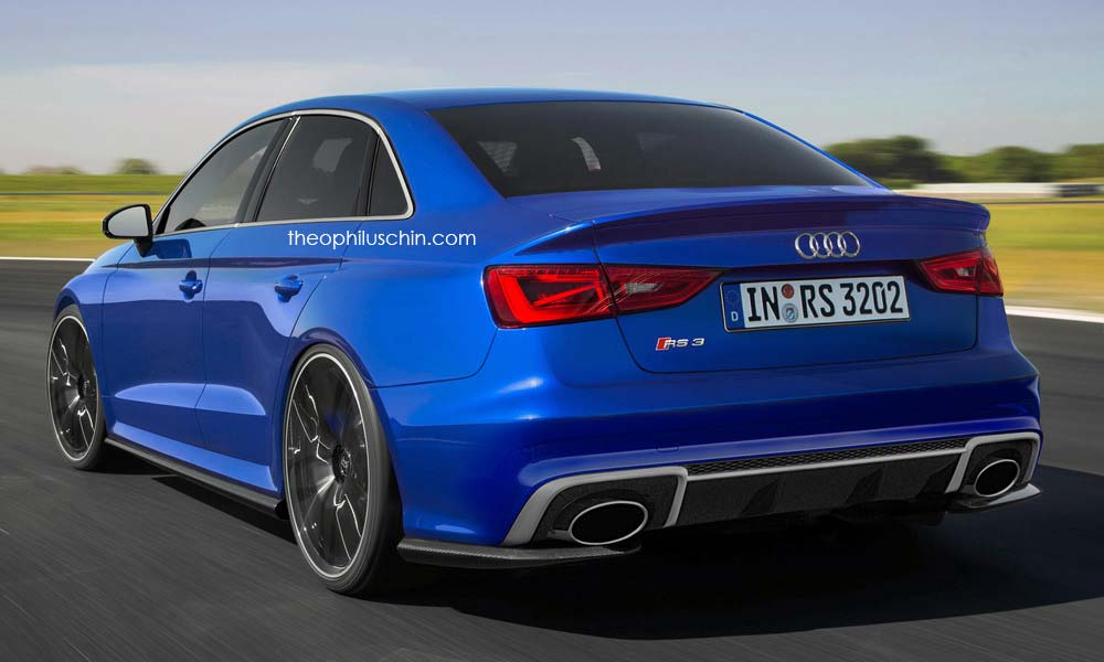 Экстремальный седан Audi RS3, неофициальная версия