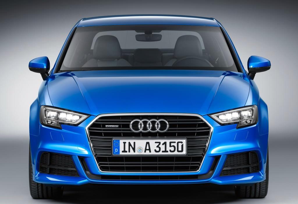 Audi A3 Sedan. Вид спереди