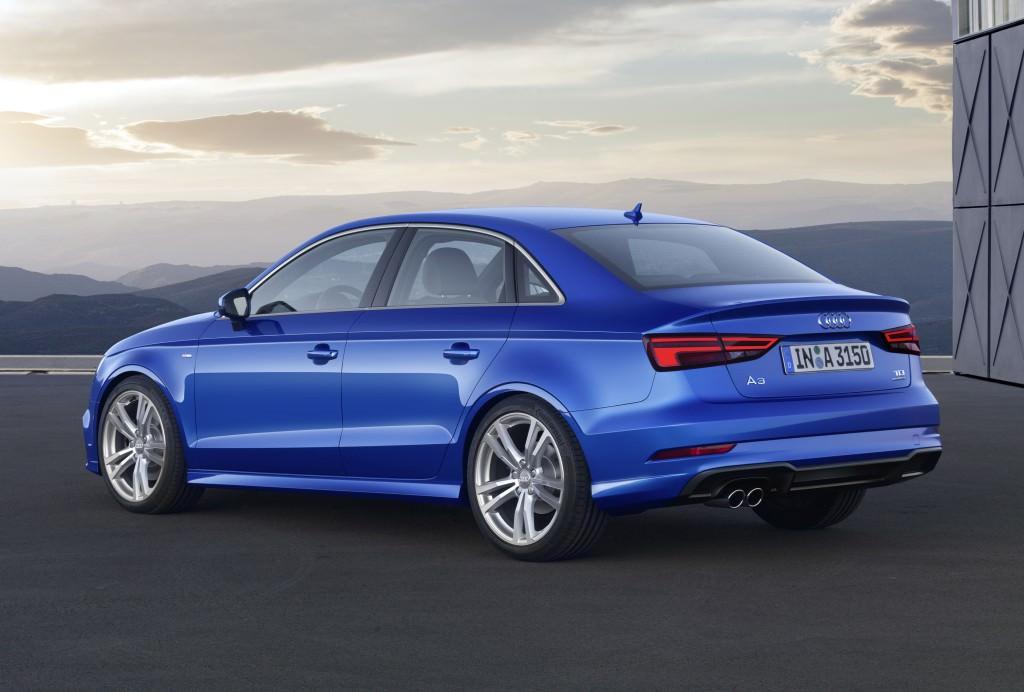 Audi A3 Sedan. Вид сзади
