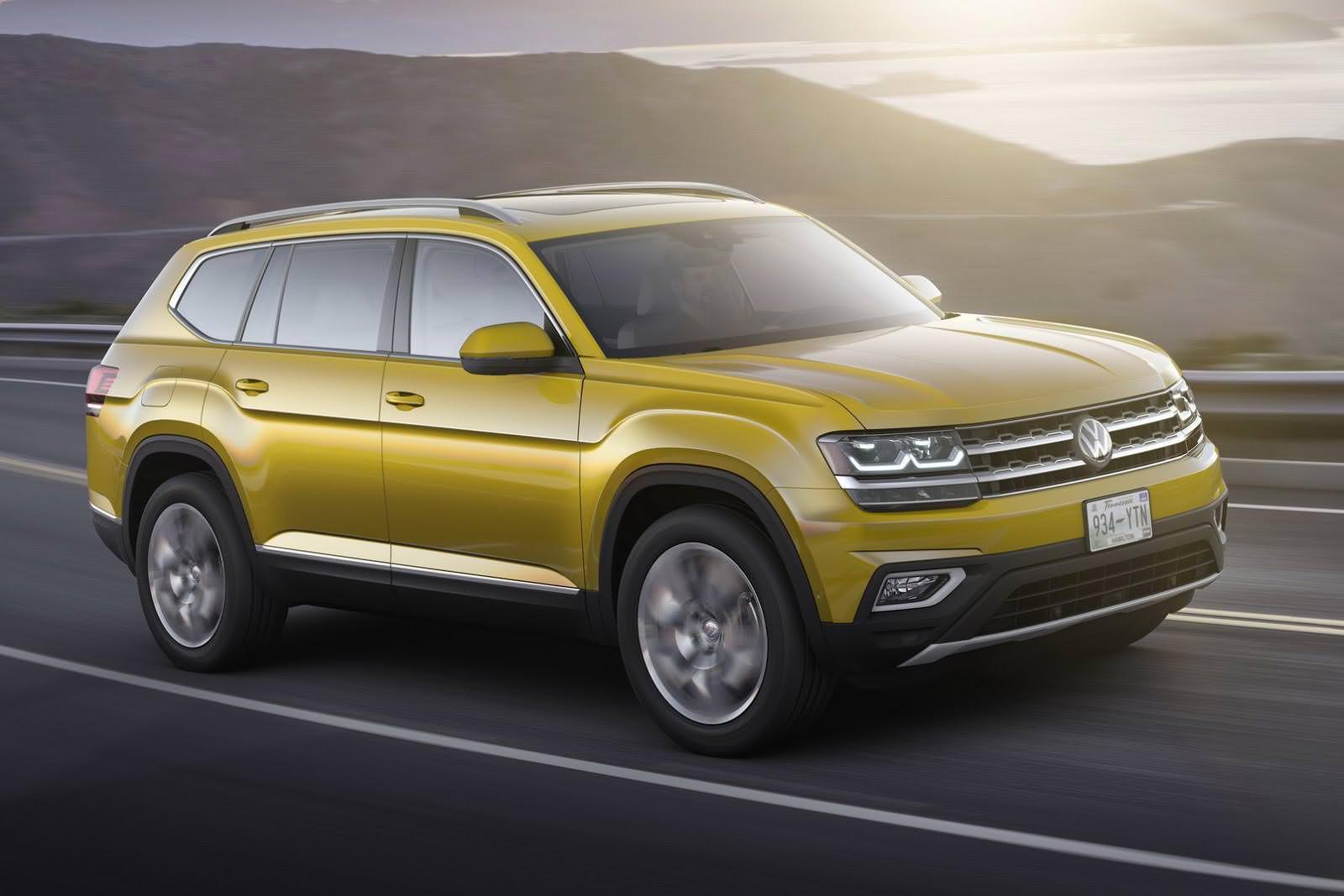 Новый кроссовер Volkswagen Atlas 2017