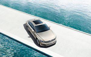 Флагманский седан Volkswagen Phideon. Вид сверху