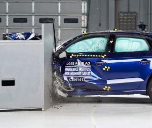Краш-тест Audi A3 Sedan от IIHS