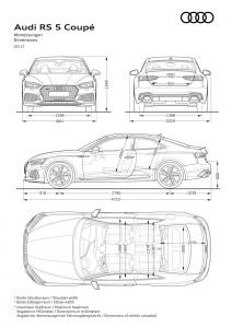 Габариты Audi RS5 Coupe 2017