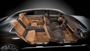 Салон Bentley Mulsanne с позолотой