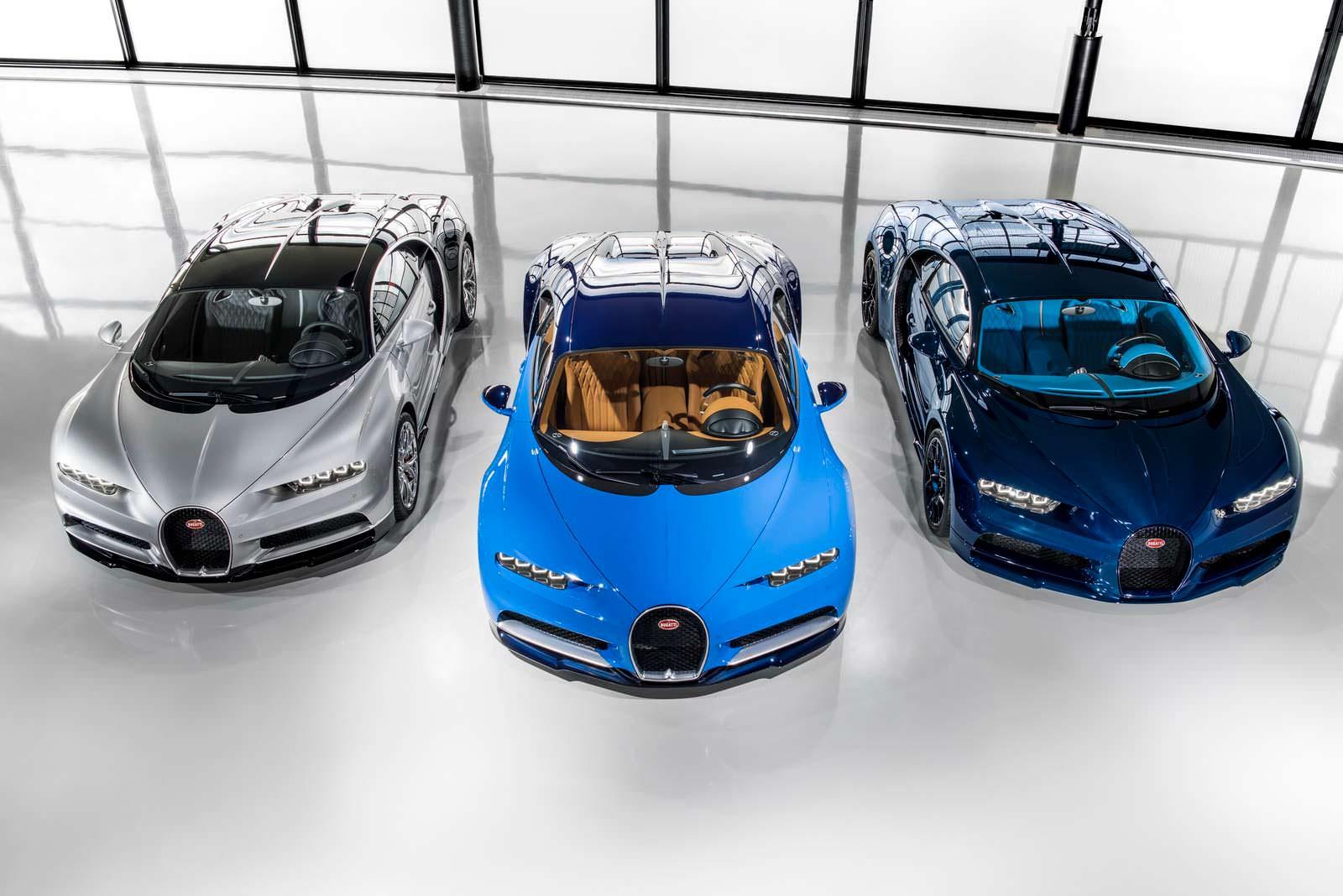 Bugatti Chiron. Первые 3 из 70 в 2017 году