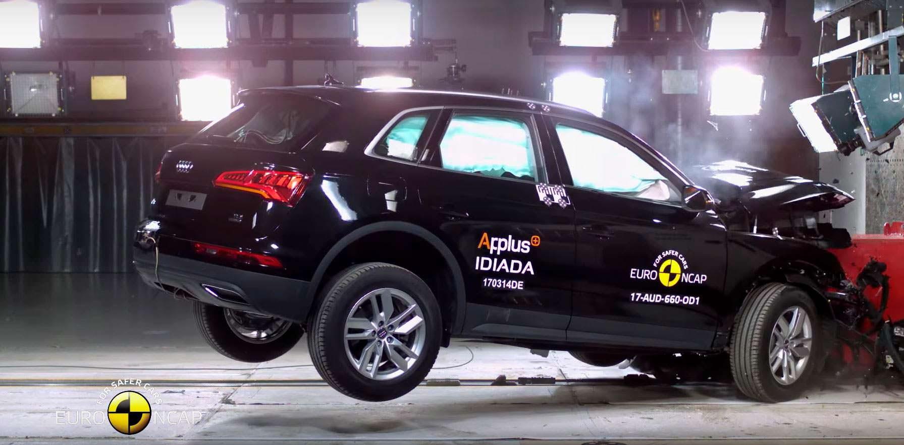 Независимый краш-тест Audi Q5 2017 от Euro NCAP