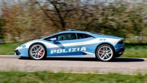 Полицейский Lamborghini Huracan в Италии