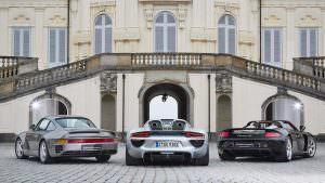 Суперкары Порше 959, 918 Спайдер и Каррера ГТ