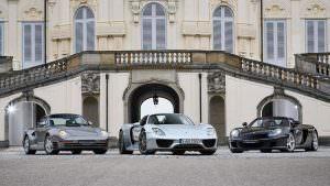 Суперкары Porsche 959, 918 Spyder и Carrera GT