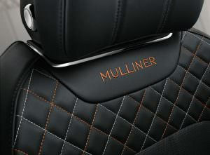 Надпись Mulliner на кресле