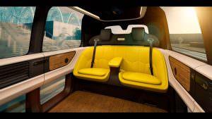 Кресла в салоне VW Sedric