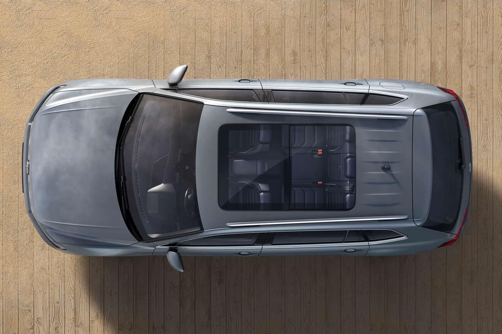 Панорамный люк в крыше VW Tiguan Allspace