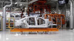 Кузов Audi A8 2018 на сборке в Германии