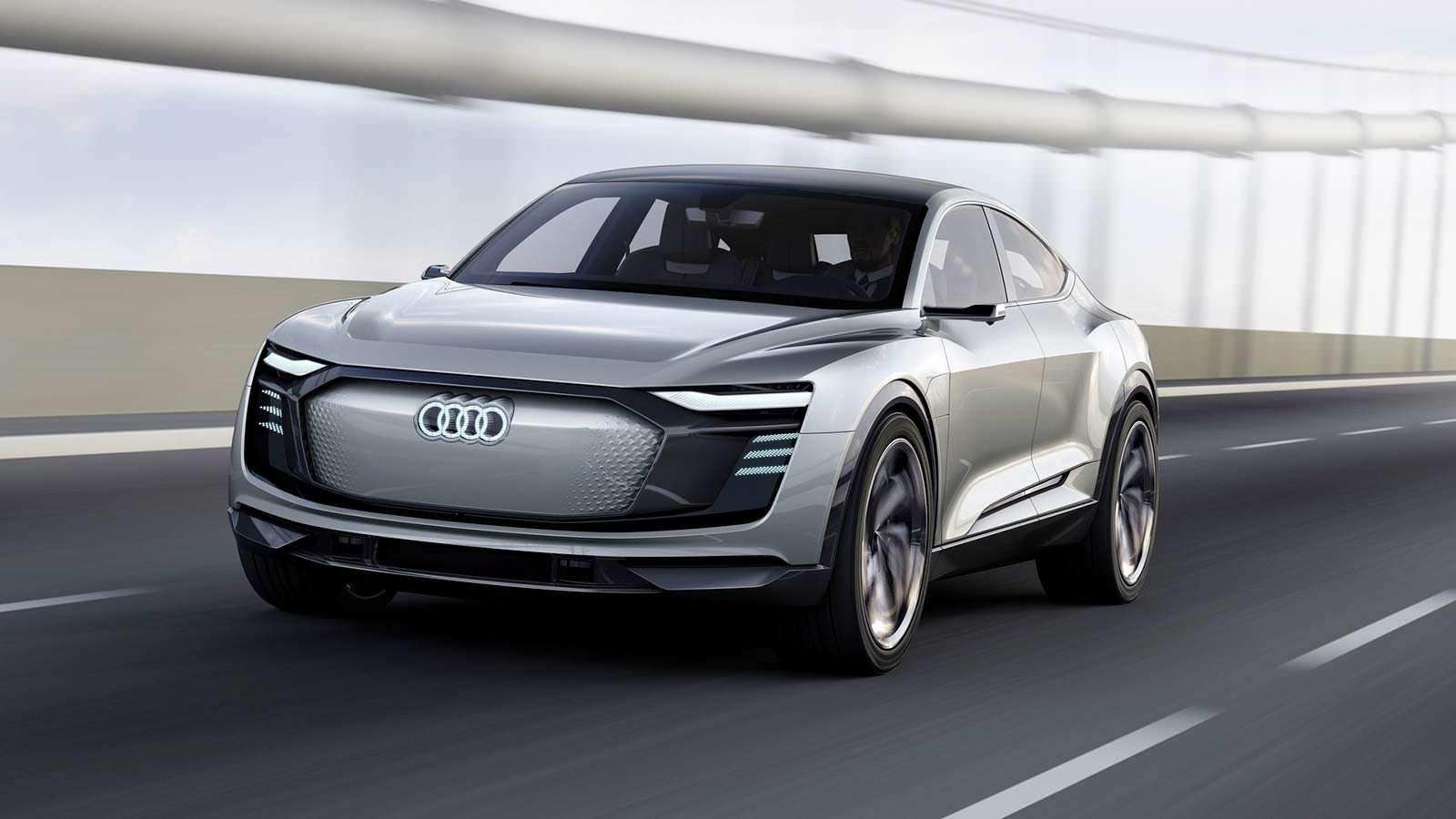 Купе-кроссовер Audi E-Tron Sportback Concept 2017 года