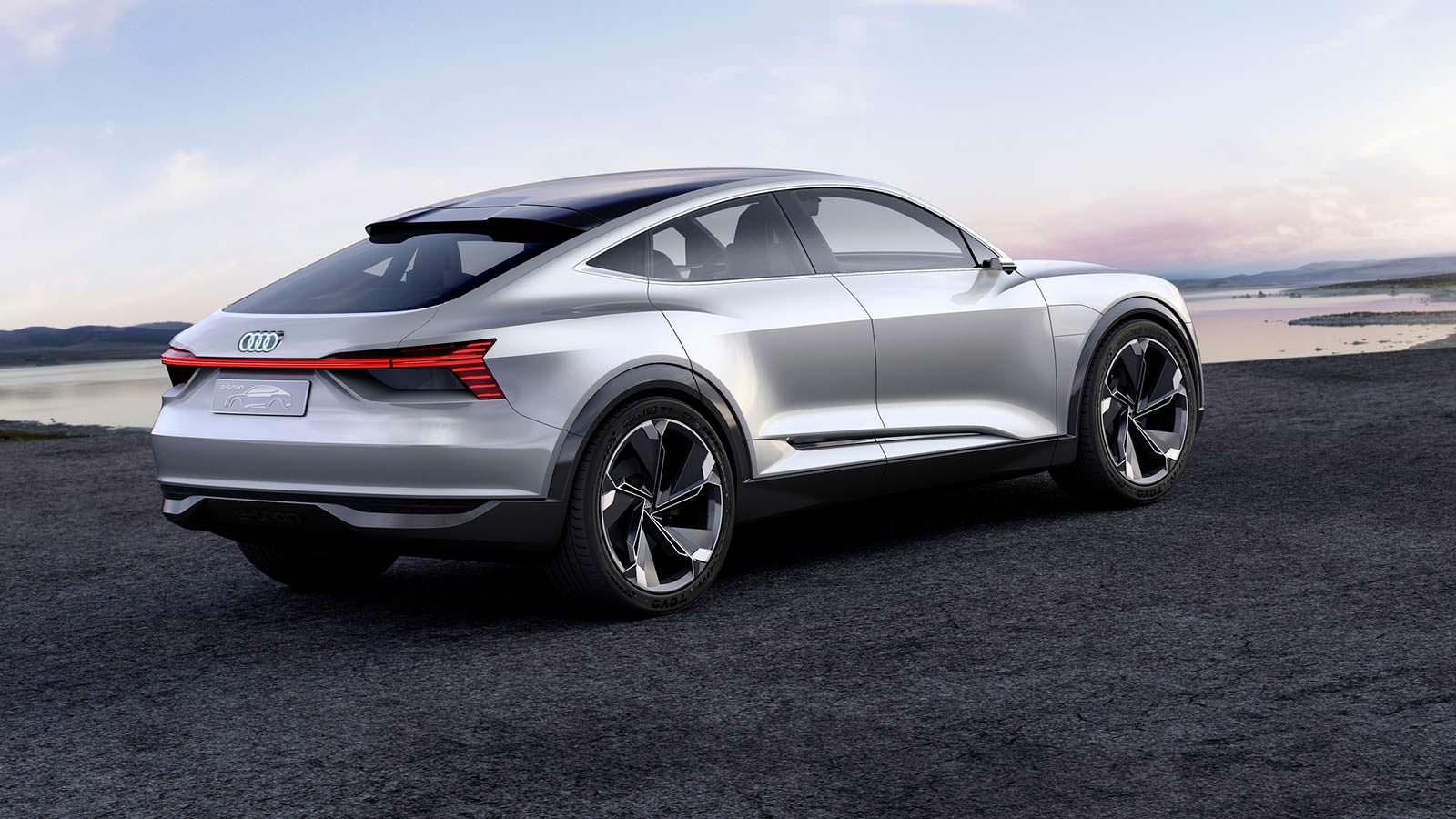 Фото   Электрический кроссовер Audi E-Tron Sportback Concept